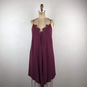 Free People Dresses - Free People l Parisian Lace Bust V-Hem Slip Dress